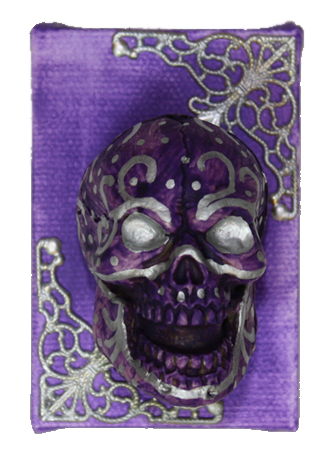 Purple Muertos by Heather Miller WhiteRosesArt.com