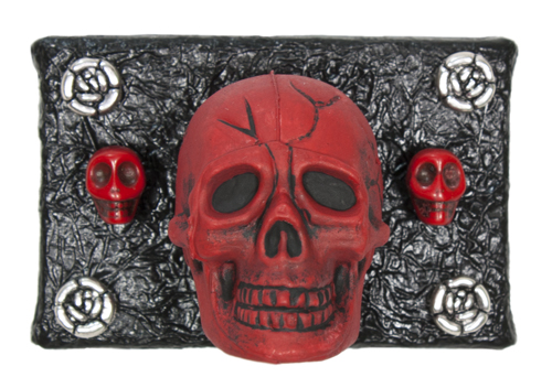 3 Skulls in Red (WhiteRosesArt.com)