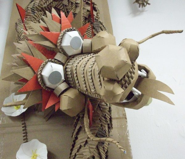 Paper Dragon - detail image - by Heather Miller | WhiteRosesArt.com