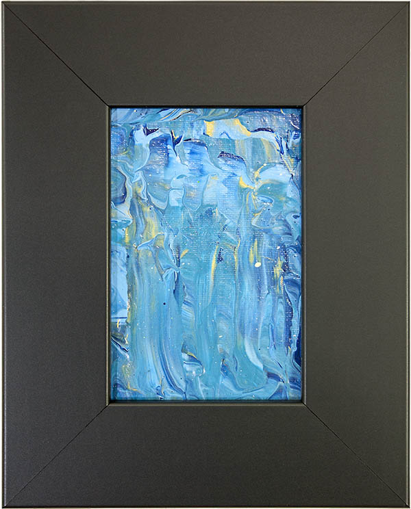 Cascade - Blue Abstract Painting by Heather Miller, WhiteRosesArt.com