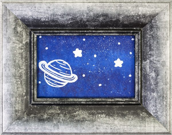 Beyond a Space Themed Abstract Painting by Heather Miller | WhiteRosesArt.com