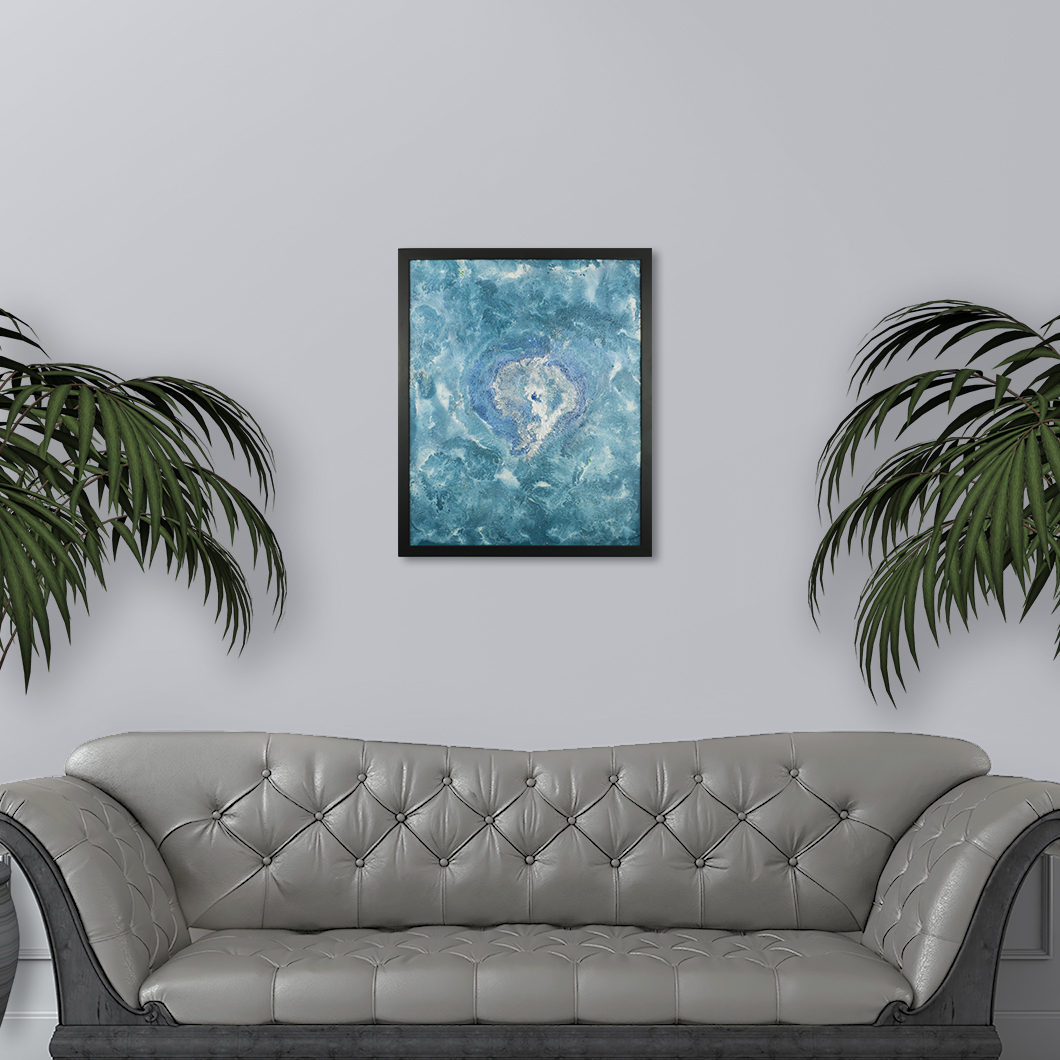 Nebula, a Space Themed Abstract Painting by Heather Miller, WhiteRosesArt