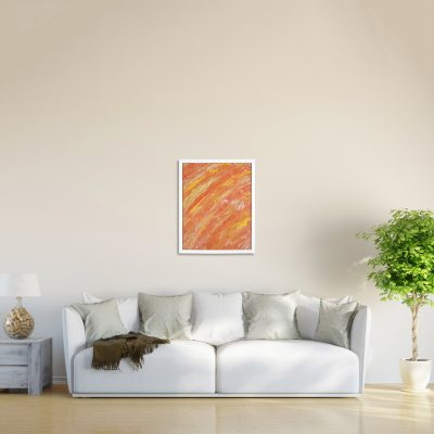 Summertime an Orange Abstract Painting by Heather Miller | WhiteRosesArt