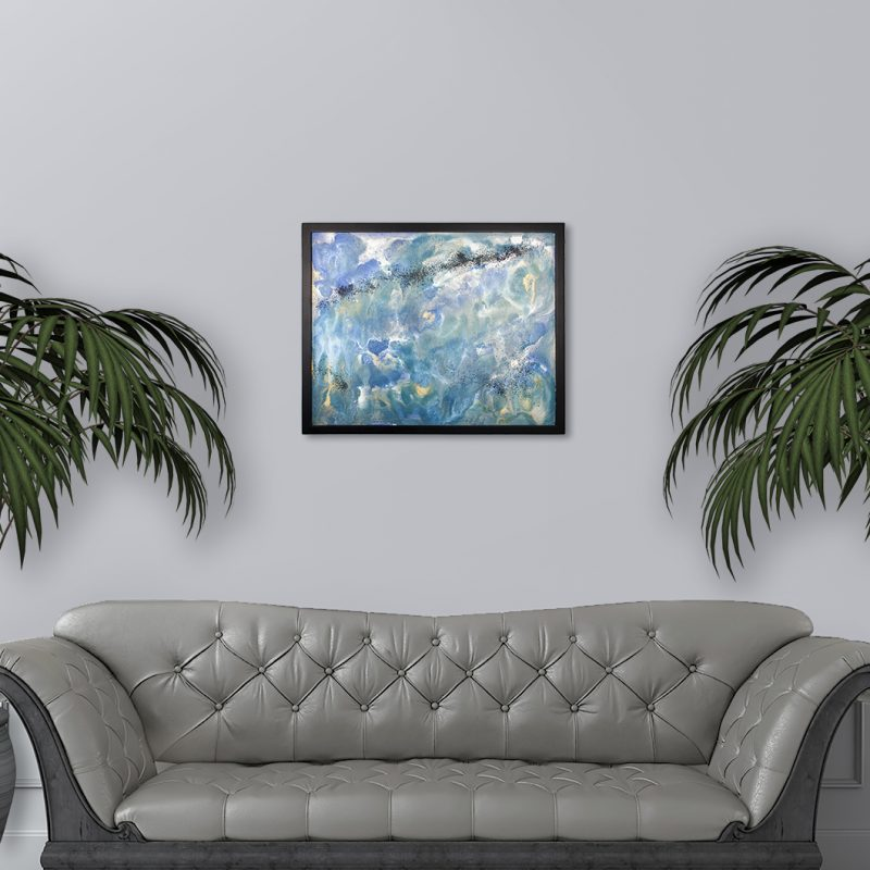 Deep Space - Space themed abstract painting by Heather Miler, WhiteRoses Art