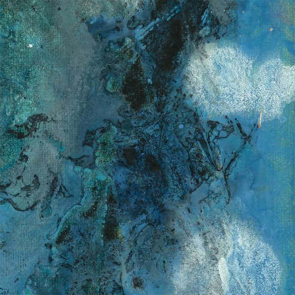 An Encounter at Sea - Blue Abstract Painting by Heather Miller Art
