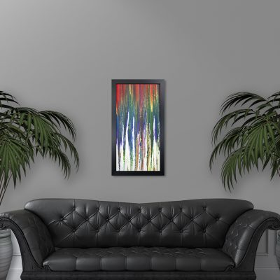 Not Crayons - Rainbow Abstract Painting by Heather Miller Art