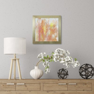 Dahlia - A Bohemian Inspired Abstract Painting by Heather Miller Art