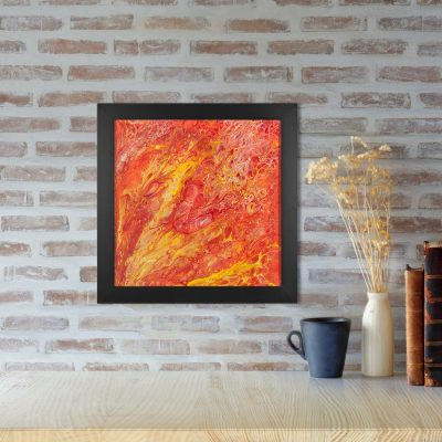 Fire Dragon - Abstract Dragon Fantasy Art by Heather Miller of WhiteRosesArt