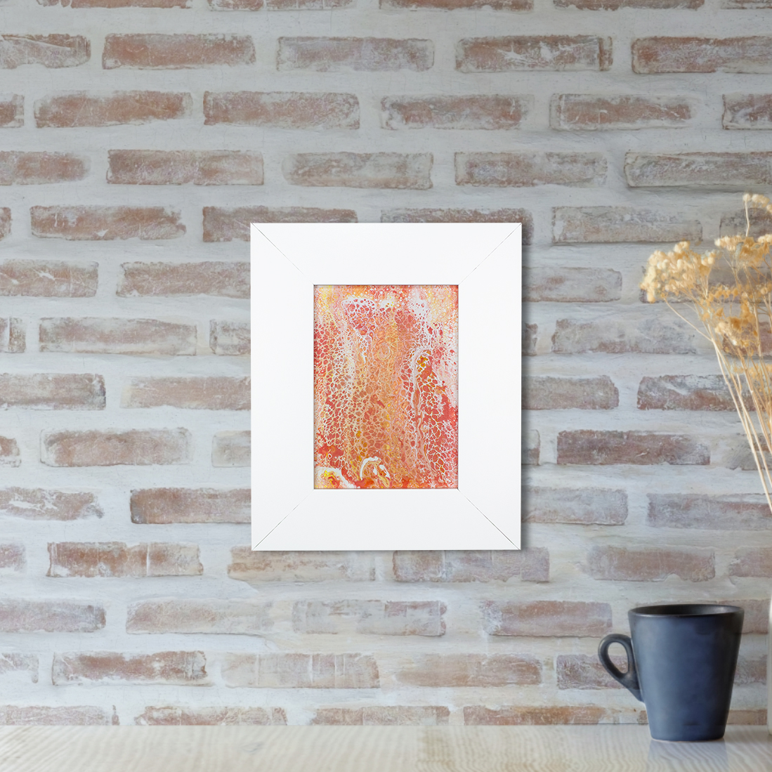 Gemini - a Bohemian Inspired Abstract Flow Painting by Heather Miller, WhiteRose's Art