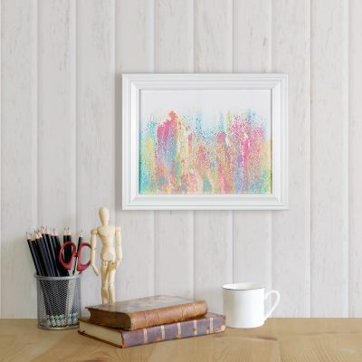 Rainbow Sorbet - Pastel Rainbow Abstract Painting by Heather Miller, WhiteRose's Art