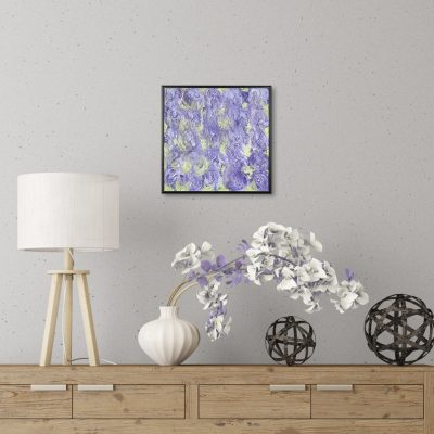 Lilacs - Purple and Green Mixed Media Painting by Heather Miller, WhiteRose's Art