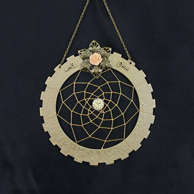 A Key to a Good Night's Rest - A Steampunk Dreamcatcher by Heather Miller