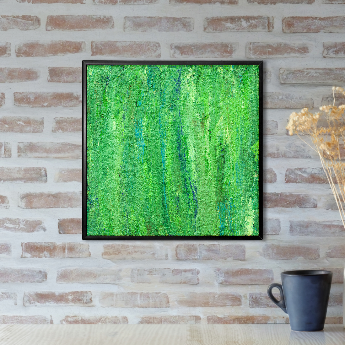 Lush - Abstract Green Painting by Heather Miller of WhiteRose's Art