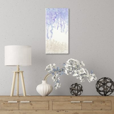 Winter Solstice - Blue Purple White Abstract Mixed Media Painting by Heather Miller Art