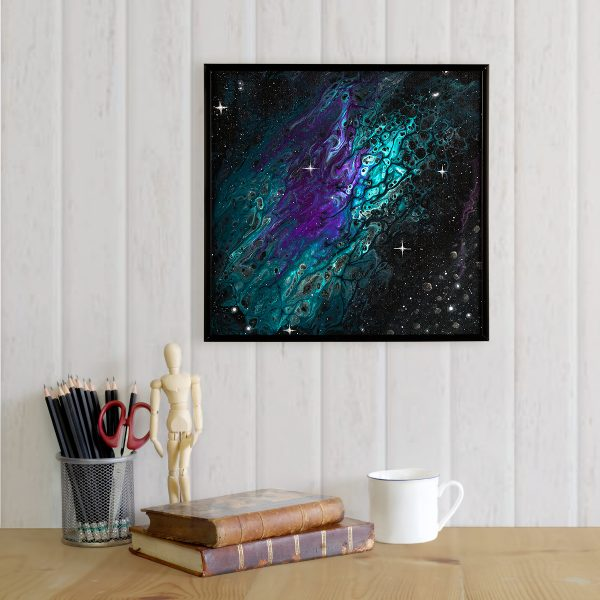 The Aquarion Formation - Purple Teal Abstract Asteroid Painting by Heather Miller Art