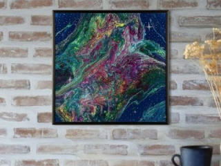 The Siriaenus Formation - Abstract Rainbow Space Painting by Heather Miller
