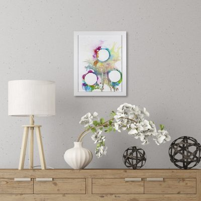 3 Circles - Abstract Rainbow Painting by Heather Miller